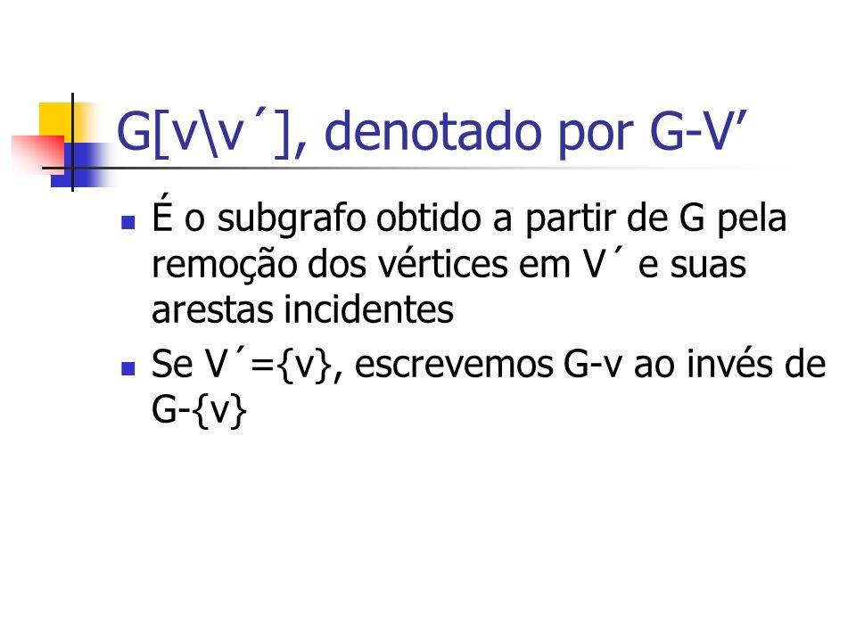 G[v\v´], denotado por G-V'